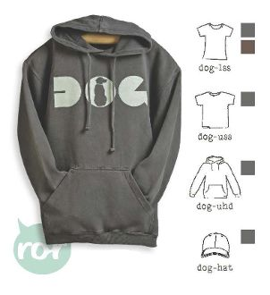 DOG  Unisex Hoodie on Charcoal