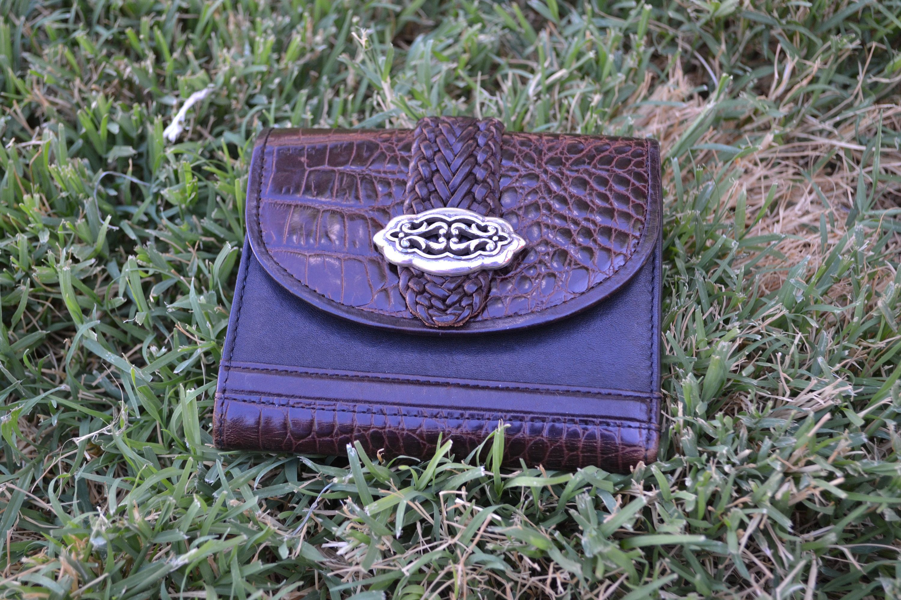Leather purse Christmas Gift Brown Chain Wallet Clutch Wallet Women/'s Leather Wallet Personalized Leather Wallet Gift
