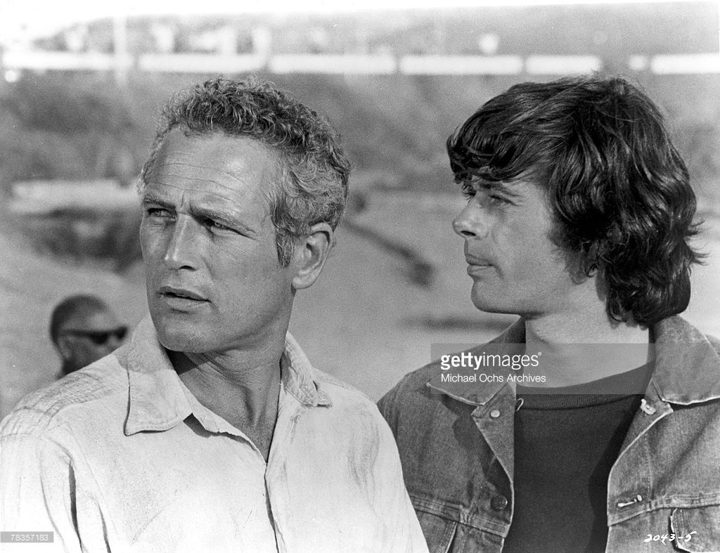 Paul Newman And Michael Sarrazin On The Set Of Sometimes A