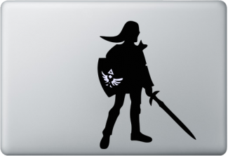 Zelda laptop decal w/ glowing Hylian shield!!! #want