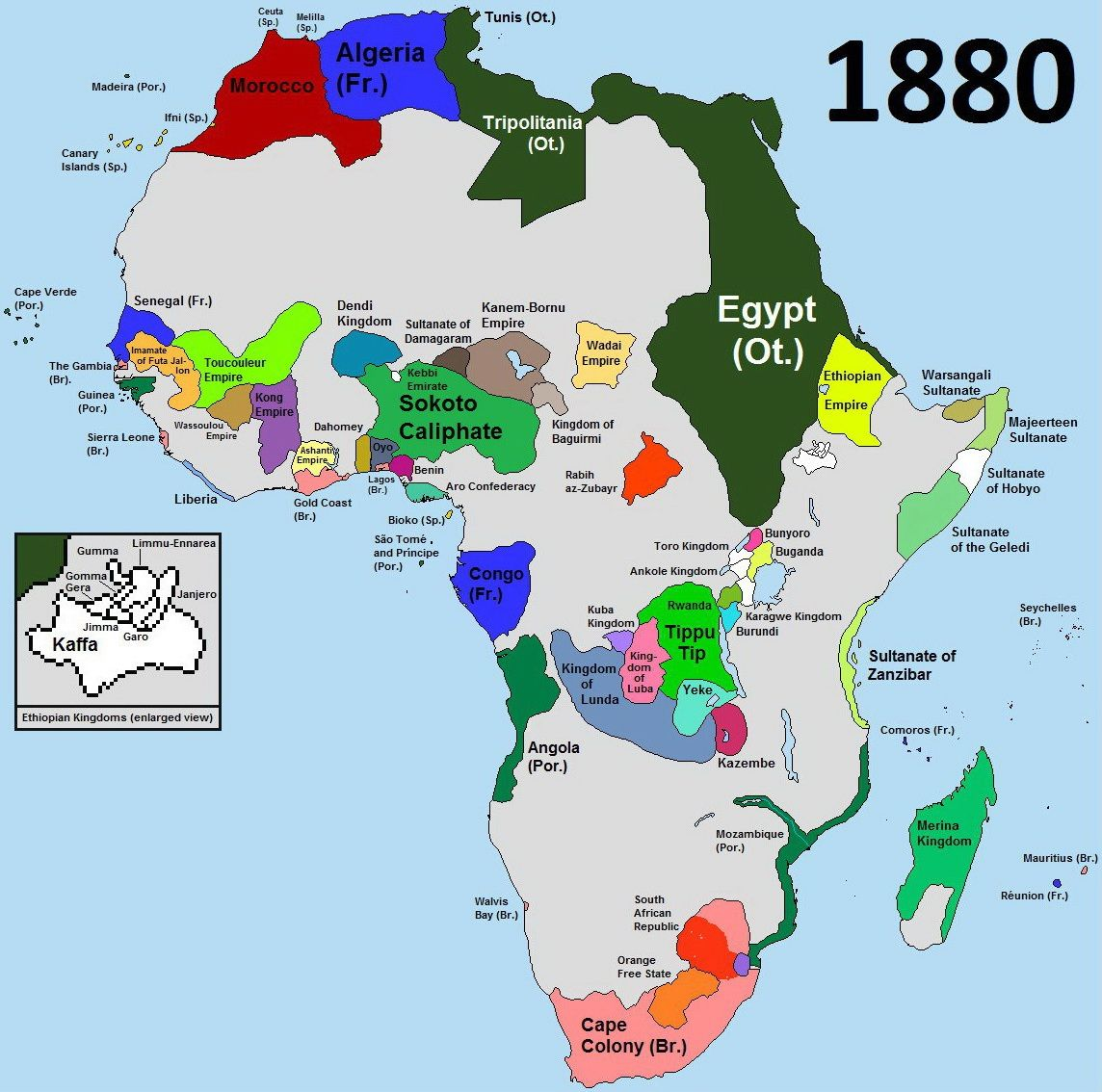 Africa before partition (1880) | Maps | Map, Africa map, World history