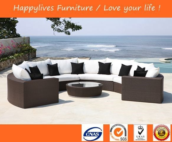HL2234 pe rattan barato outdoor sofá muebles de jardín d ...