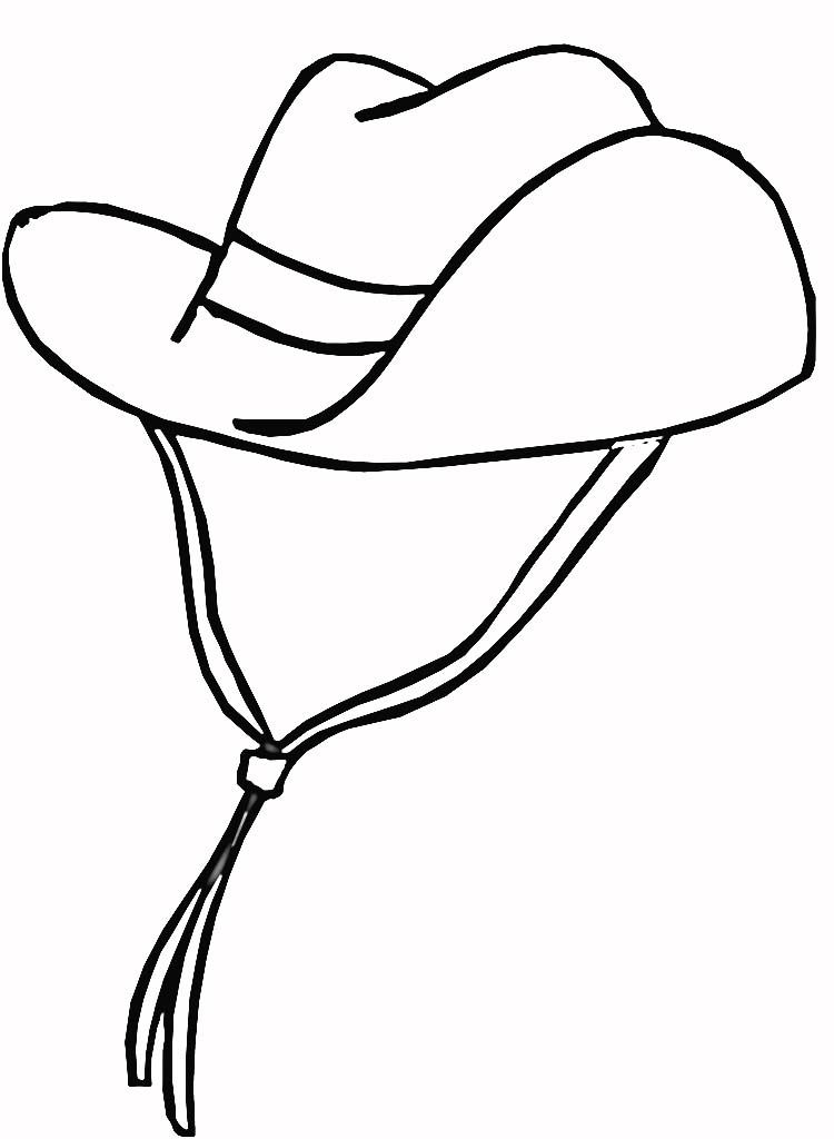 Cowboy Hat Coloring Online Super Coloring Cowboy Hat Drawing