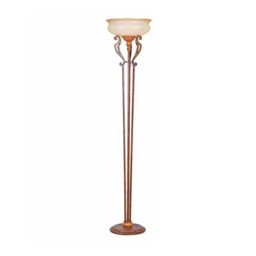 Savannah Malacca Crackle Floor Lamp