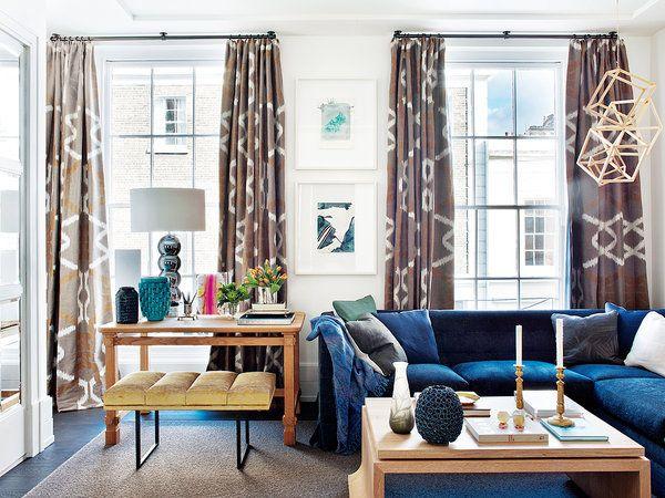 Una casa llena de detalles Cortinas estampadas, Diseños de piezas