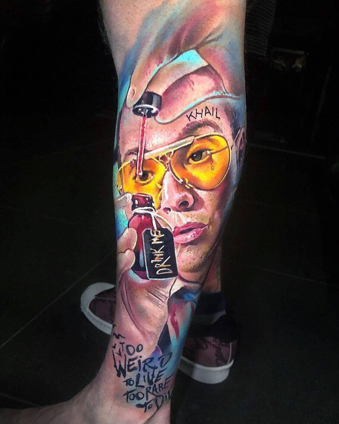 Crazy tattoo by khail aitken weird tattoos leg tattoo