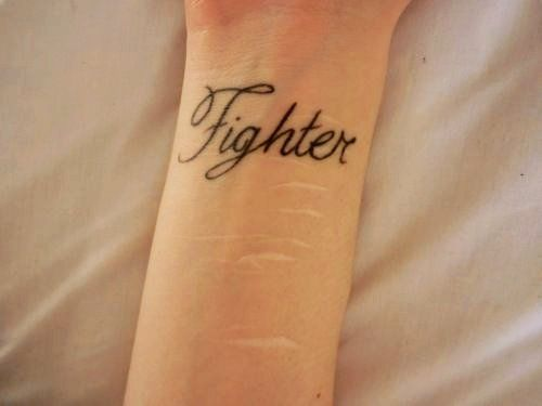 Cute Wrist Quote Tattoos For Girls Black Fighter Wrist Quote
