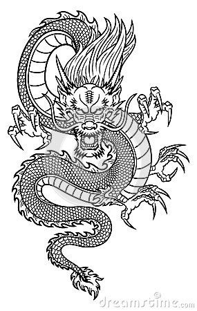 Chinese Dragon Vector Stock Photos Images Pictures 2 375 Images Asian Dragon Tattoo Japanese Dragon Tattoos Dragon Tattoo Designs