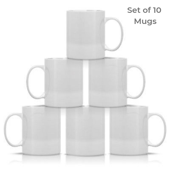 11oz White Sublimation Mug (10 Pcs) | Home Business
