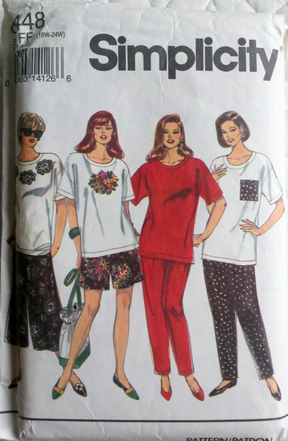 Plus size pants, skirt and top