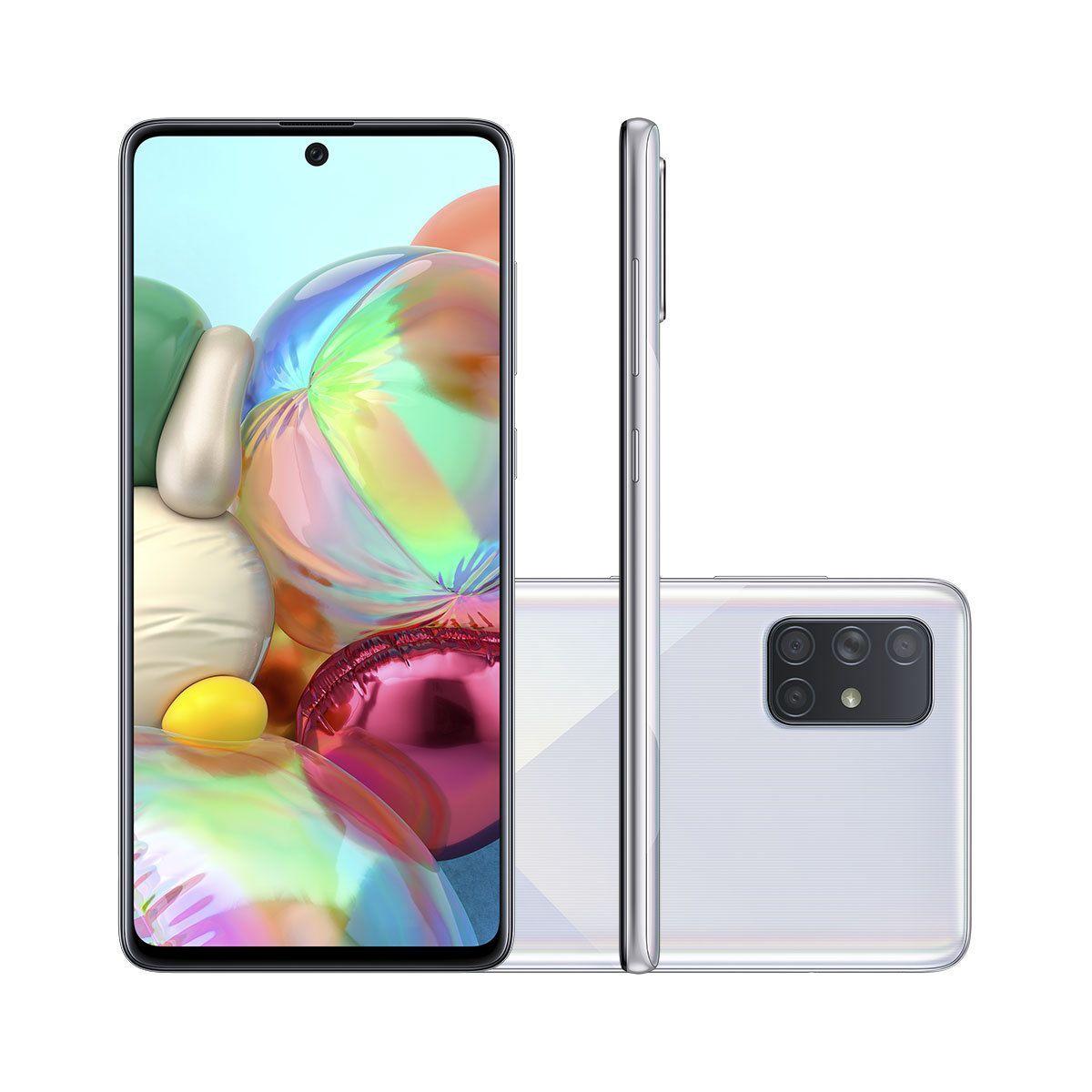 Smartphone Samsung Galaxy A71 128gb 4g Tela 6 7 Pol Camera Quadrupla 64mp Selfie 32mp Android 10 0 Samsung Galaxy Smartphone Samsung