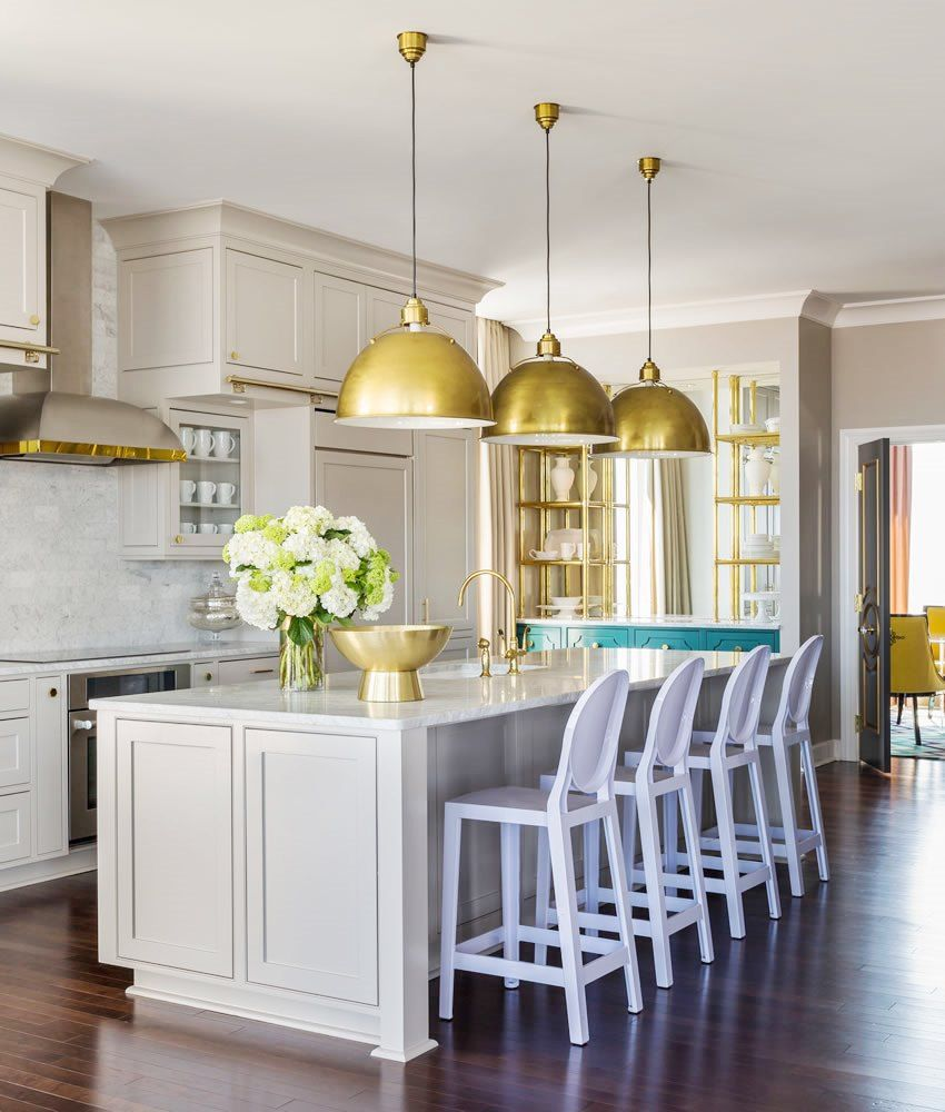 Grey kitchen cabinets brass accents this or that grey kitchen