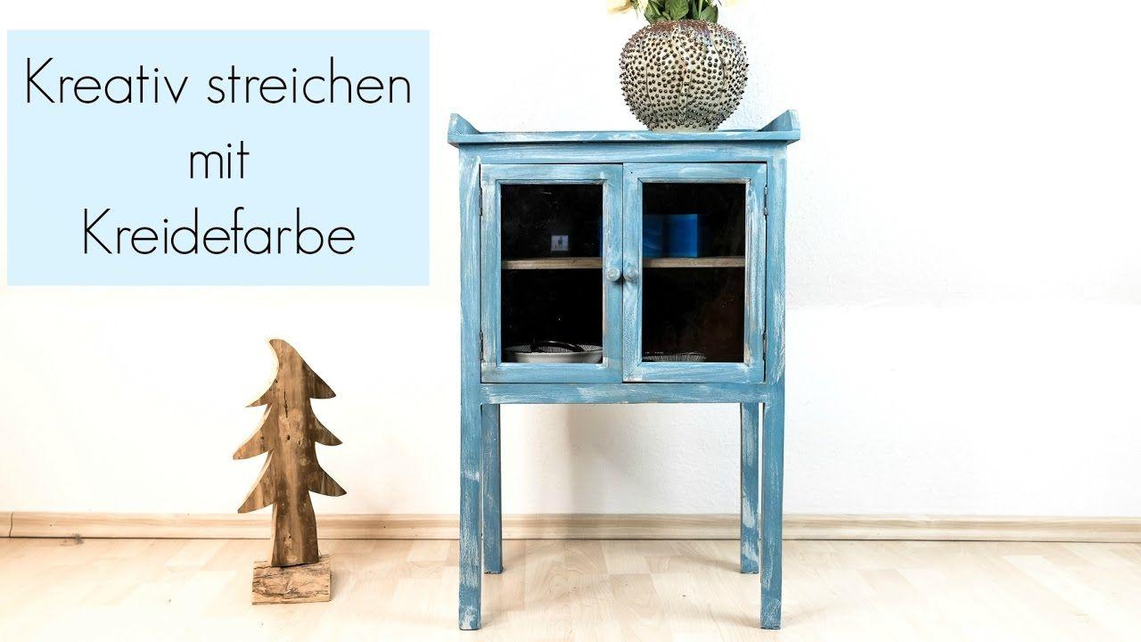 Kreidefarbe streichen * Shabby Chic Stil mit Zweischichttechnik * Möbel ...