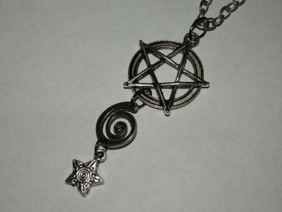 * SOLD ~ Pentacle Necklace by RavenElizebeth on Etsy