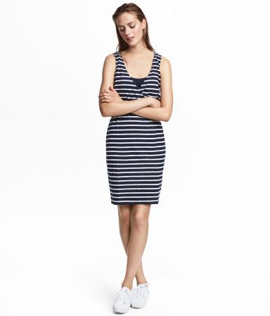 b4a65de7095e0 Dark blue white striped. Short