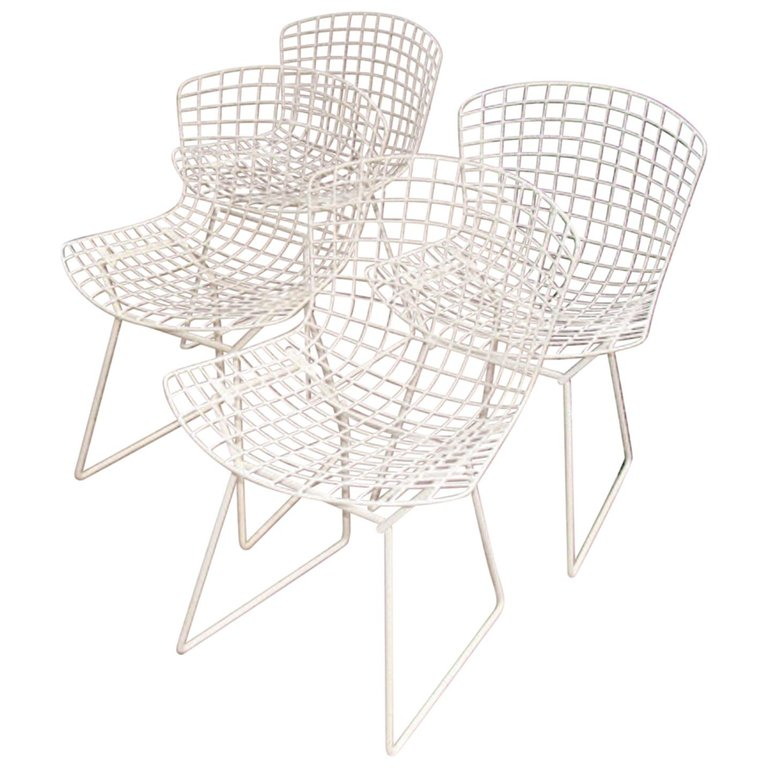 Set Of 4 Knoll Bertoia Chairs For Sale At 1stdibs With Images Bertoia Chair Bertoia Knoll Bertoia