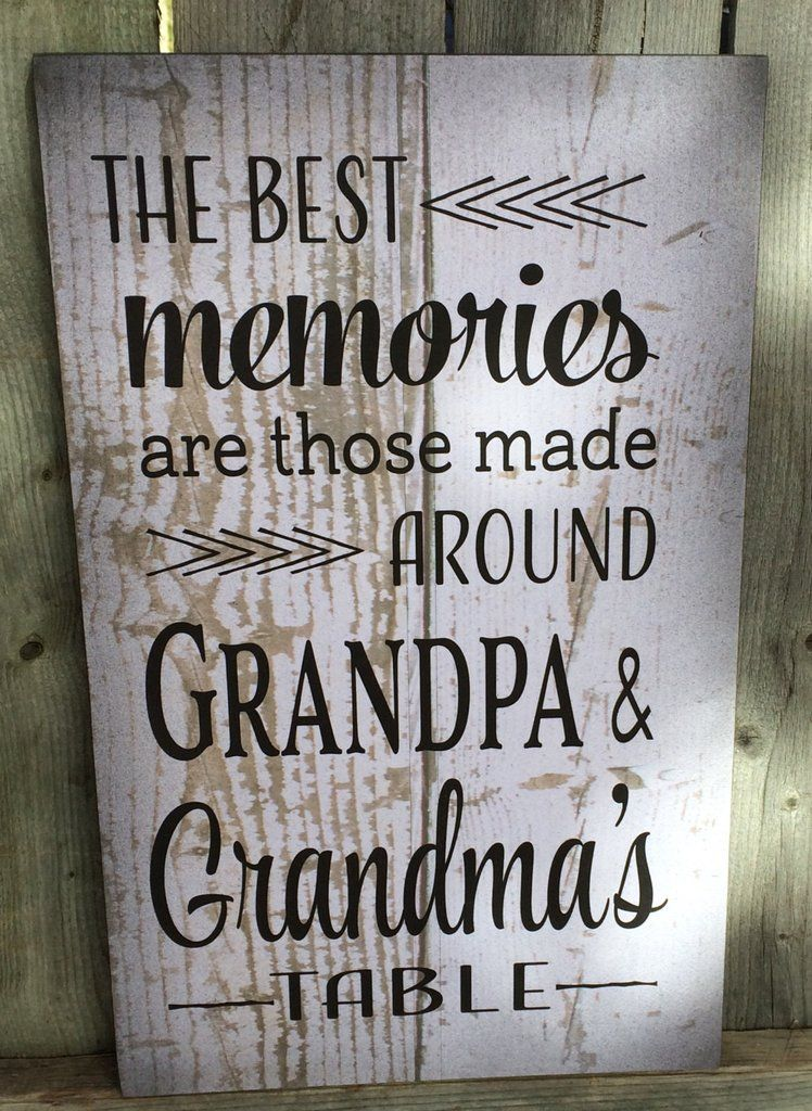 Best Memories Grandma Grandpas Wood Sign Canvas Wall Art Or