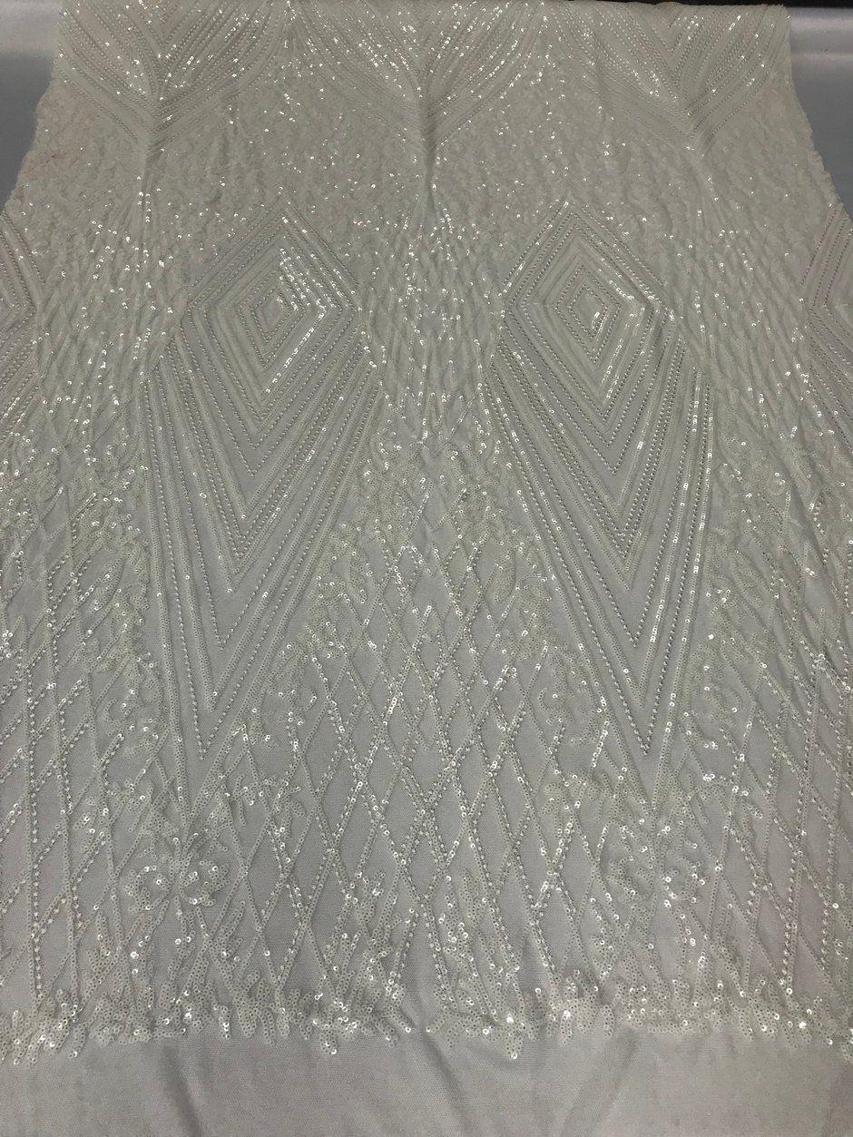 bd16768d74a 4 Way Stretch Fabric - Ivory Embroidered Sequins Lace Fashion Dress Br –  JERUSALEMFABRICSINC