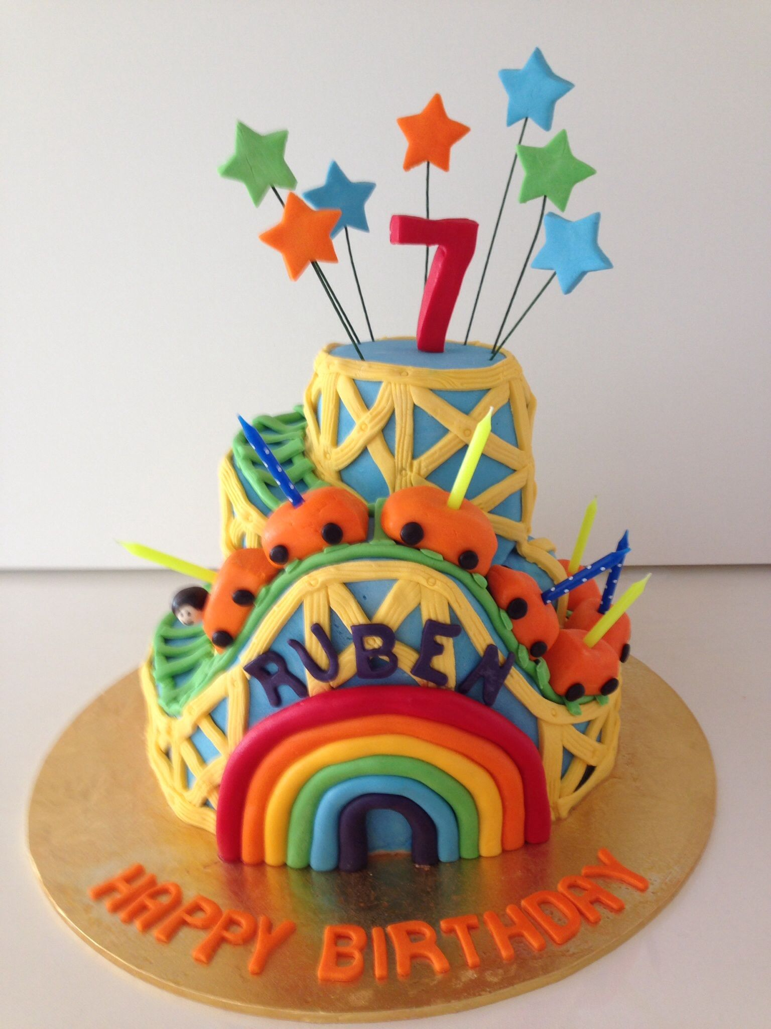 Rollercoaster   Carnival birthday cakes, Roller coaster ...