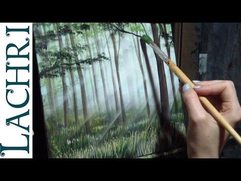 How to paint grass and a forest - Time Lapse Demo by Lachri - YouTube