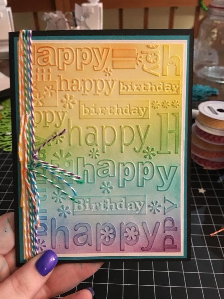 happy birthday Embossing folders Plastic Embossing Folder For Scrapbookings·C JB