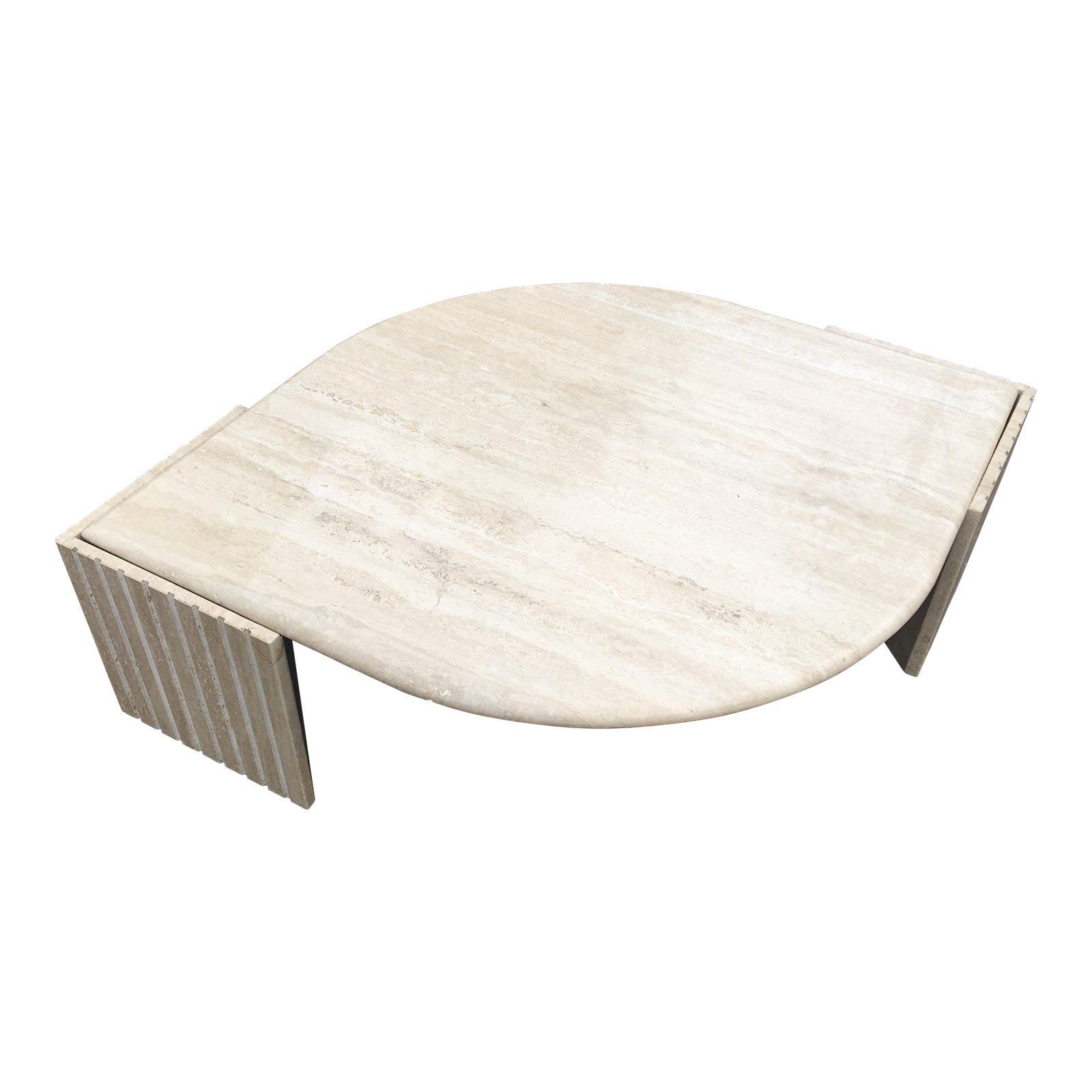 1980 S Brutalist Travertine Marble Coffee Table In 2019
