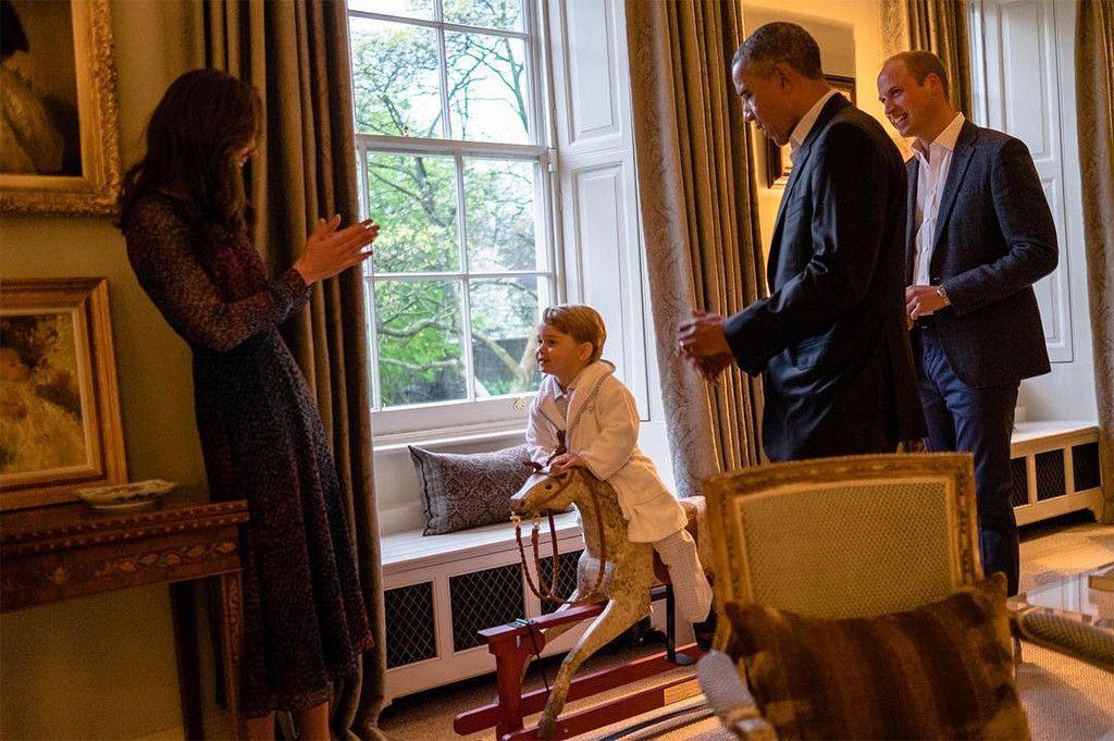 President Barack Obama Michelle Obama Meets Prince