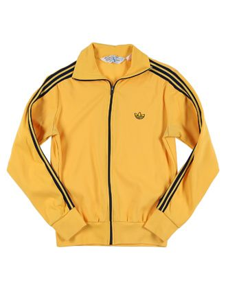 70s Adidas Yellow Tracksuit Top vintage sports top | Waxing