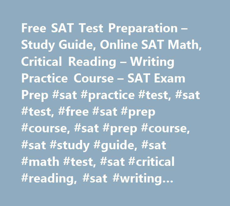Free SAT Test Preparation – Study Guide, Online SAT Math, Critical ...