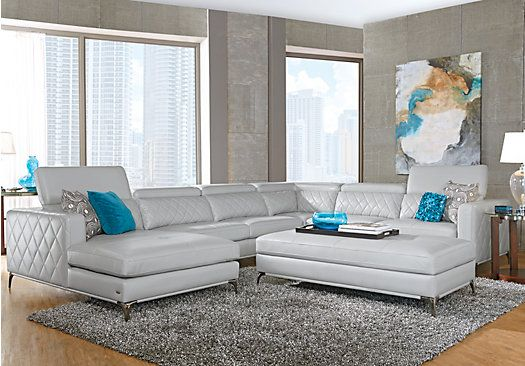 Sofia Vergara Sorrento Platinum Right 5 Pc Sectional Living Room Brilliant Affordable Living Room Designs Design Inspiration