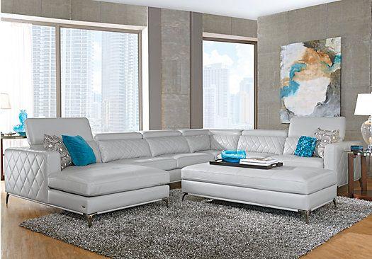 Sofia Vergara Sorrento Platinum Right 5 Pc Sectional Living Room.  $1,999.99. Find Affordable Living