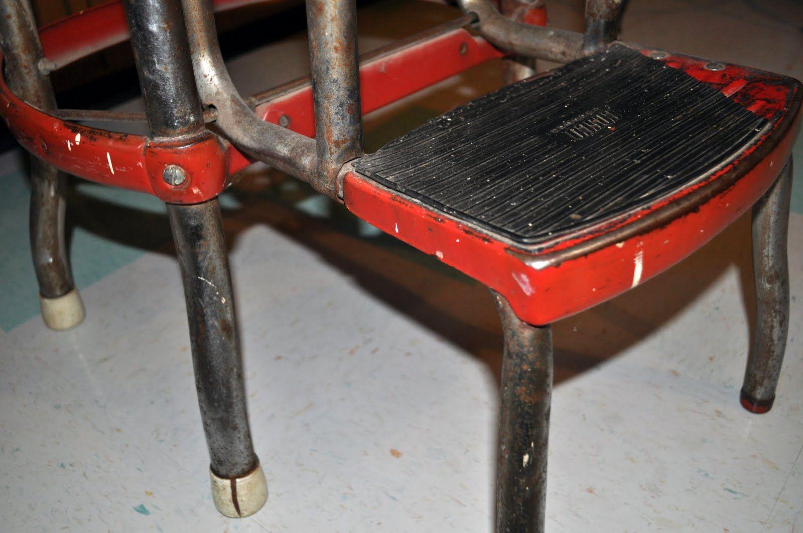 Remarkable Wedgwood Tulsa Vintage Cosco Stool Restore Cosco Step Inzonedesignstudio Interior Chair Design Inzonedesignstudiocom