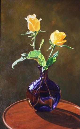 Purple Vase by Laura Kratz Oil ~ 24 x 15