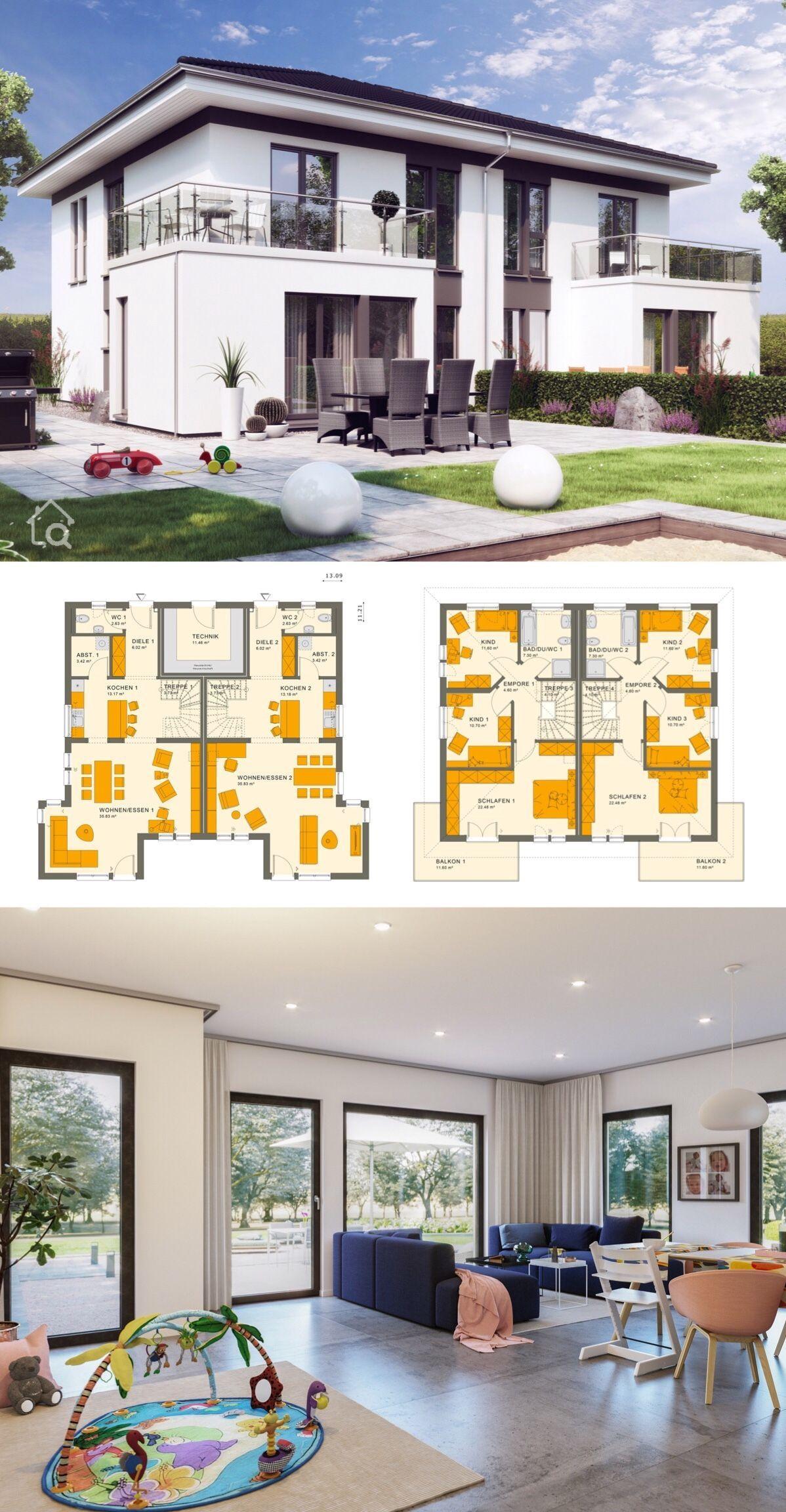 550+Zweifamilienhaus Stadtvilla SOLUTION 242 V6     HausbauDirekt.de