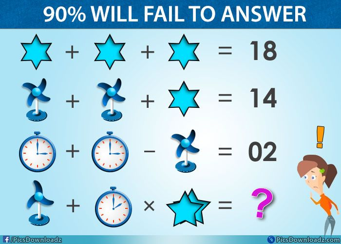 Table Fan Clock Star Viral Facebook Math Puzzle With