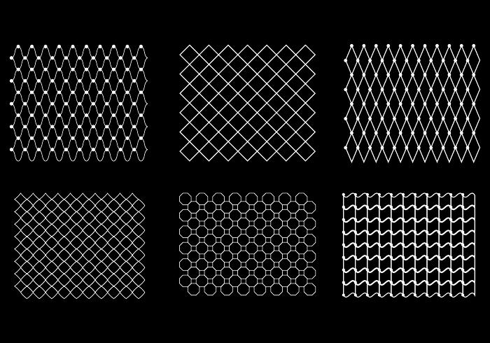 Free Fish Net Pattern Vector Pattern Fishnet Vector