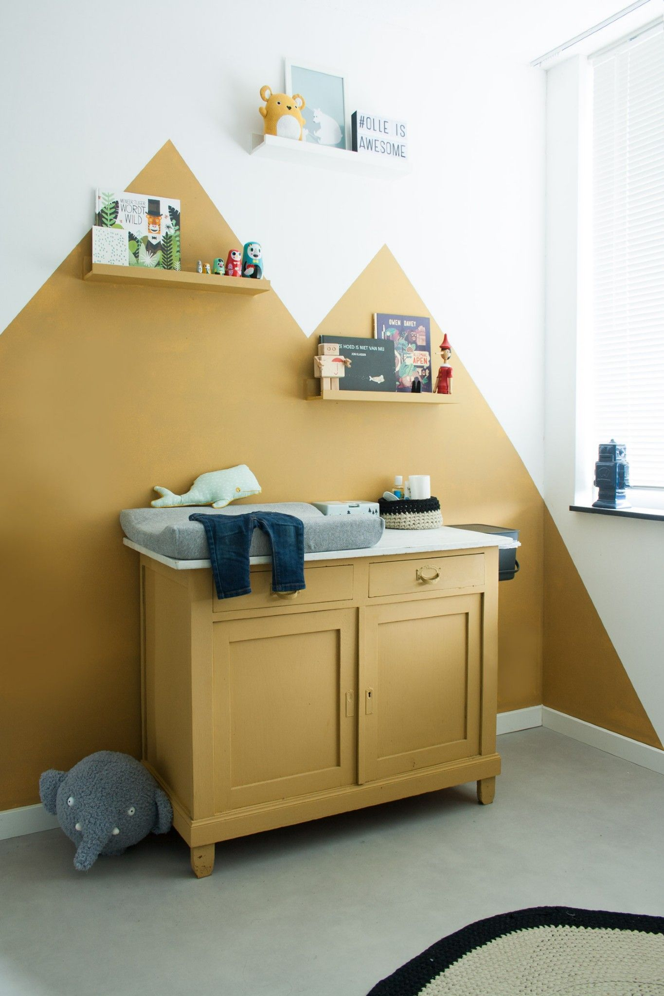 Baby Room In Muted Yellow Children S Room Color Idea Baby Childrens Color Idea Muted Room In 2020 Baby Nursery Furniture Baby Room Decor Home Decor Bedroom