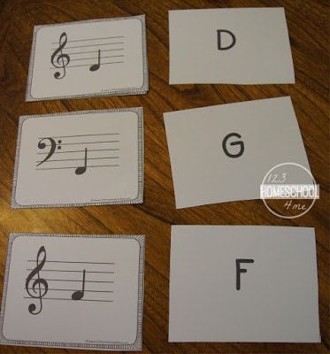 FREE Music Note Flashcards #musicnotes