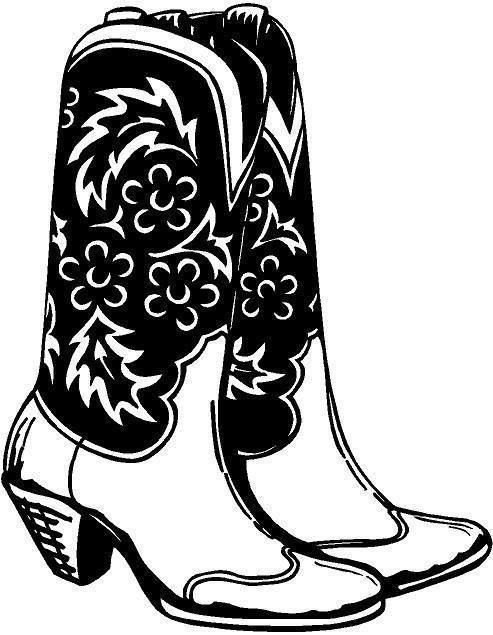For Your Consideration Is A Die Cut Vinyl Cowgirl Boots
