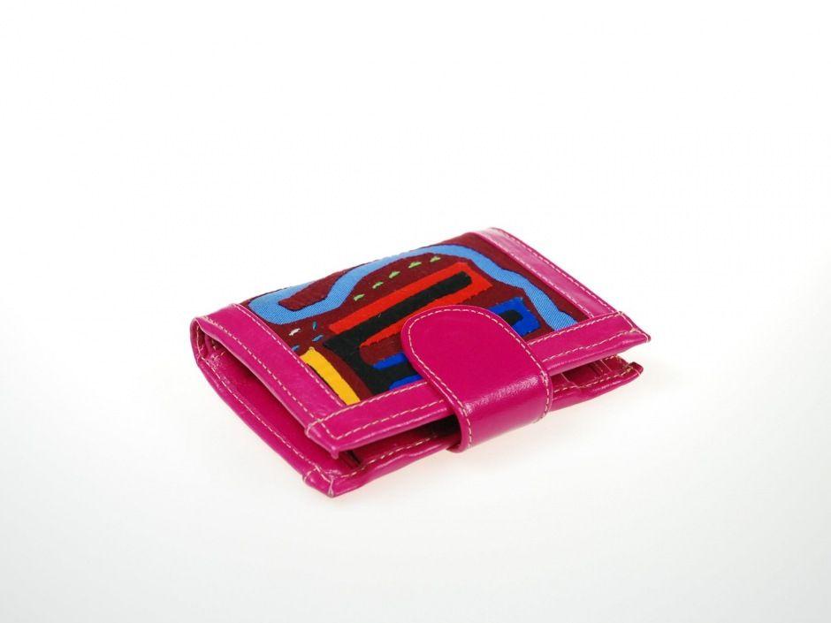 234903e9c7ee4 Mały, damski portfel SIGLI wykonany z kolumbijskiej, naturalnej skóry  bydlęcej w kolorze różowym i