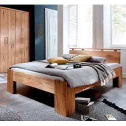 Photo of Schlafzimmer Doppelbett Wildeiche Massivholz Rödemis Ii, 140 x 200 cm CinallCinall