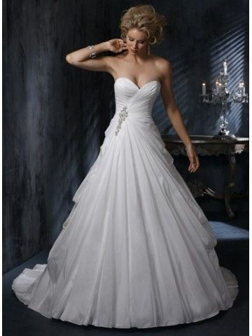 Didobridal.com: Draped Princess Wedding Dresses | Diamond White Draped Princess Sweetheart Taffeta Wedding Dress -  For more amazing deals visit us at http://www.brides-book.com and remember to join the VIB Club  for amazing offers from all our local vendors.
