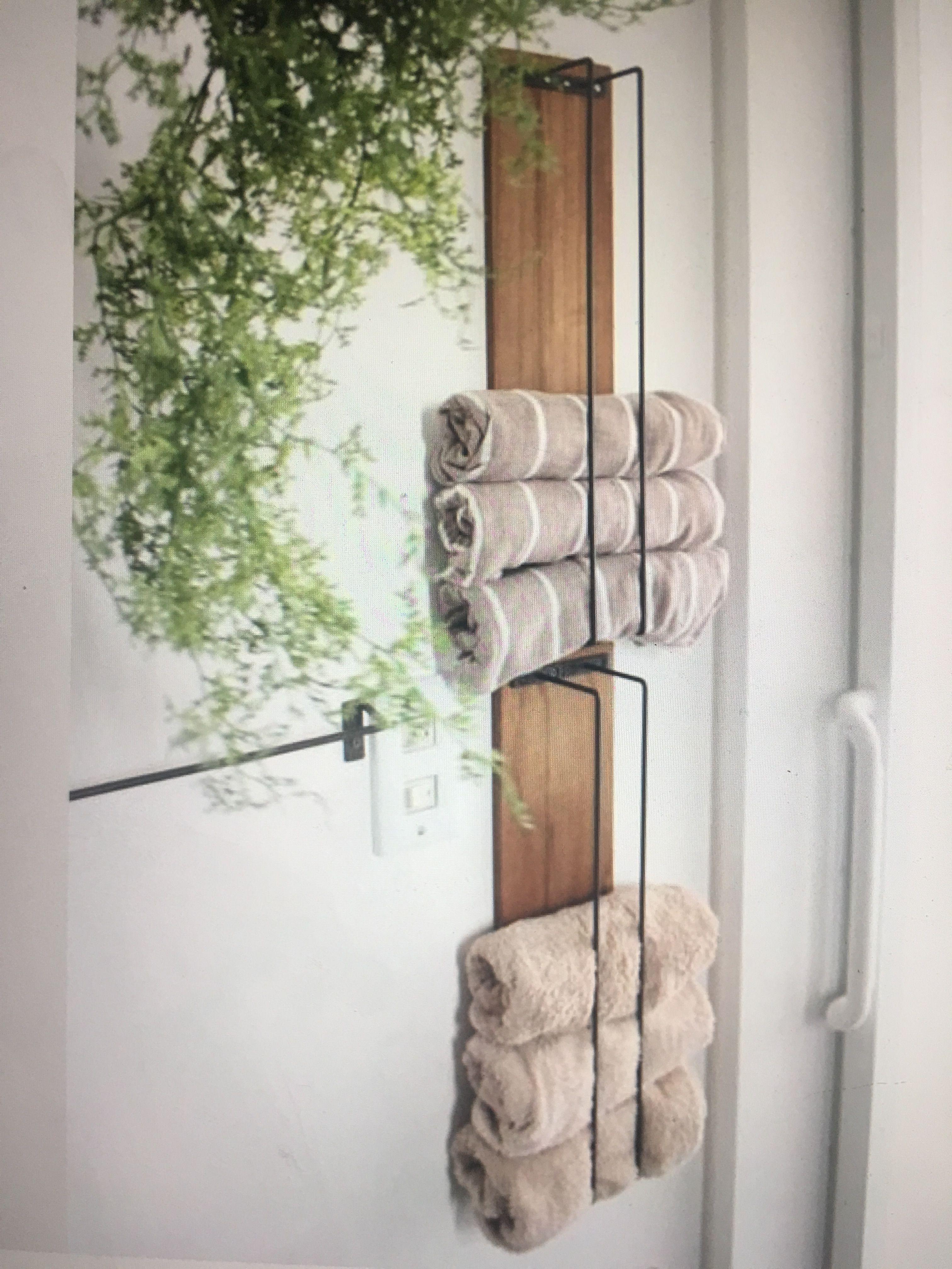 Small Bath Towel Storage A Little More Farmhouse Chic But I Like