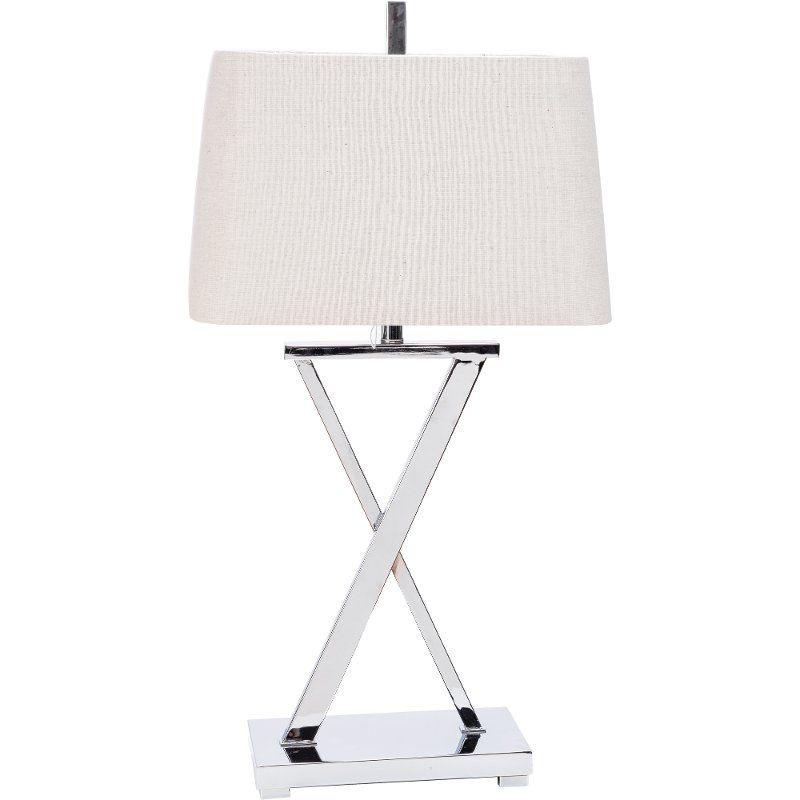 Modern Silver X Base Metal Table Lamp In 2021 Metal Table Lamps Lamp Silver Table Lamps