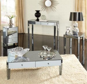 mirrored glass living room furniture http