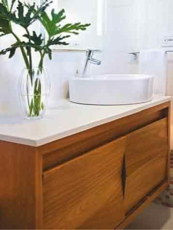 Lavabos modernos imagen los muebles de ba os para ni os tambi n pueden ser de madera - Muebles para bano en madera ...