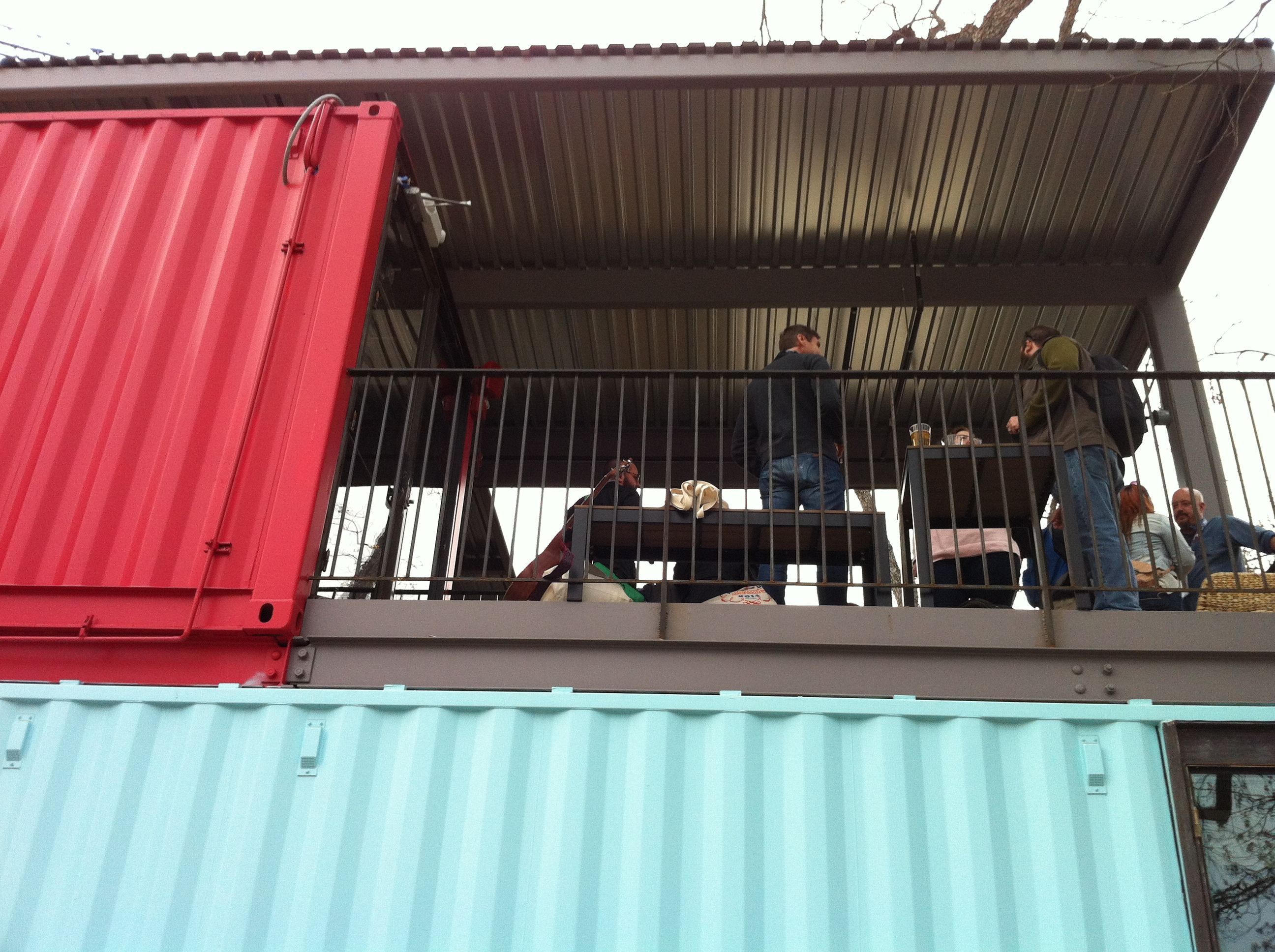Container bar rainey street upper deck container bar