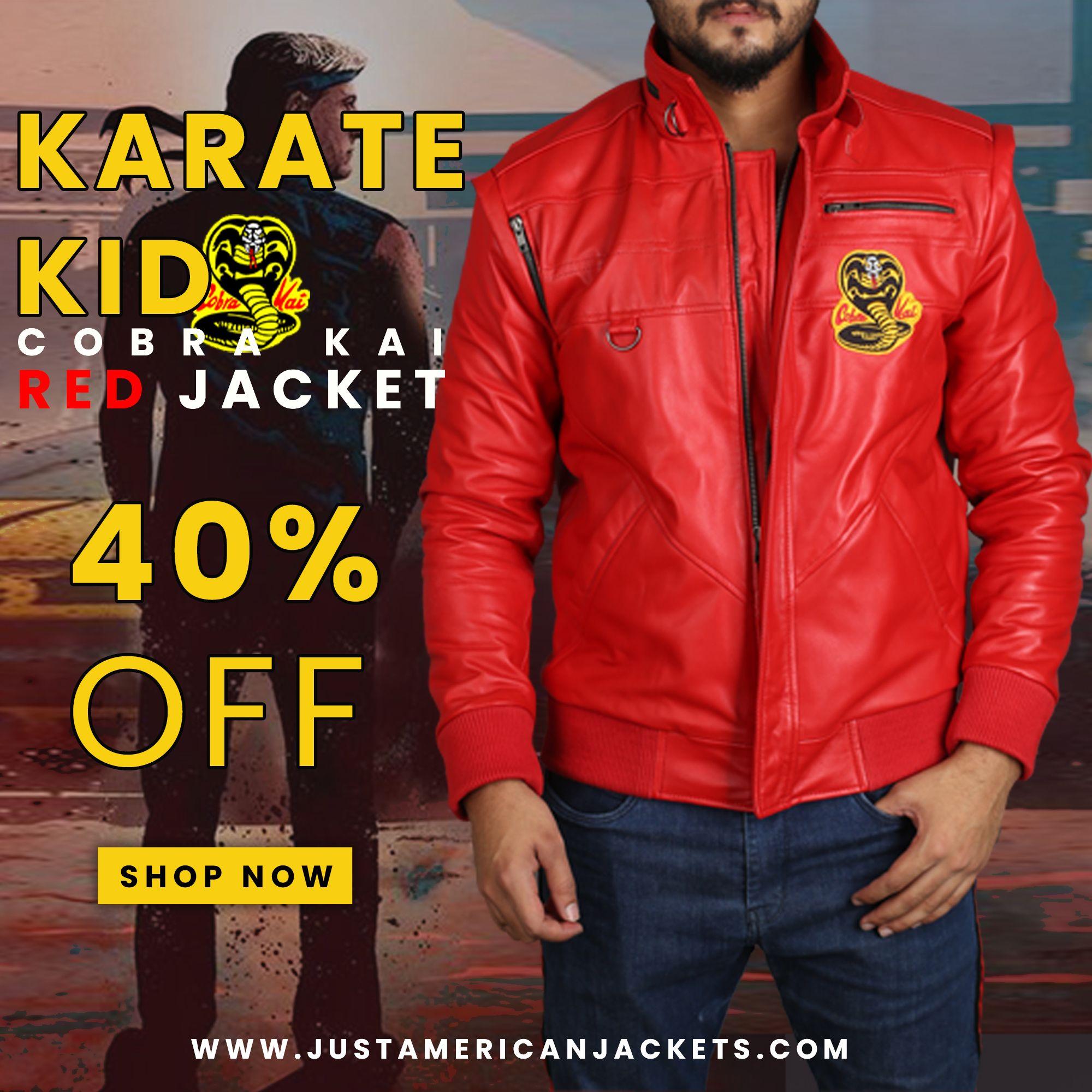 Cobra Kai Jacket Cobra Kai Red Bomber Jacket Just American Jackets Red Bomber Jacket Karate Kid Cobra Kai Red Jacket [ 2000 x 2000 Pixel ]