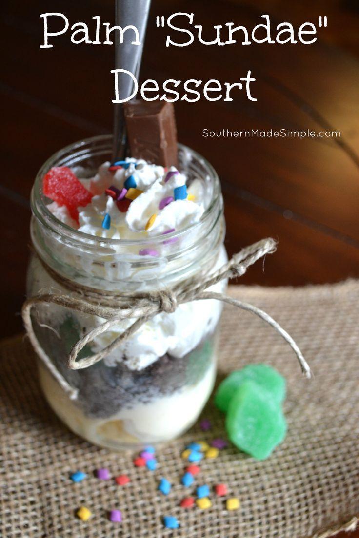 Palm Sundae Ice cream treats - A perfect Sunday School Activity for Palm Sunday!