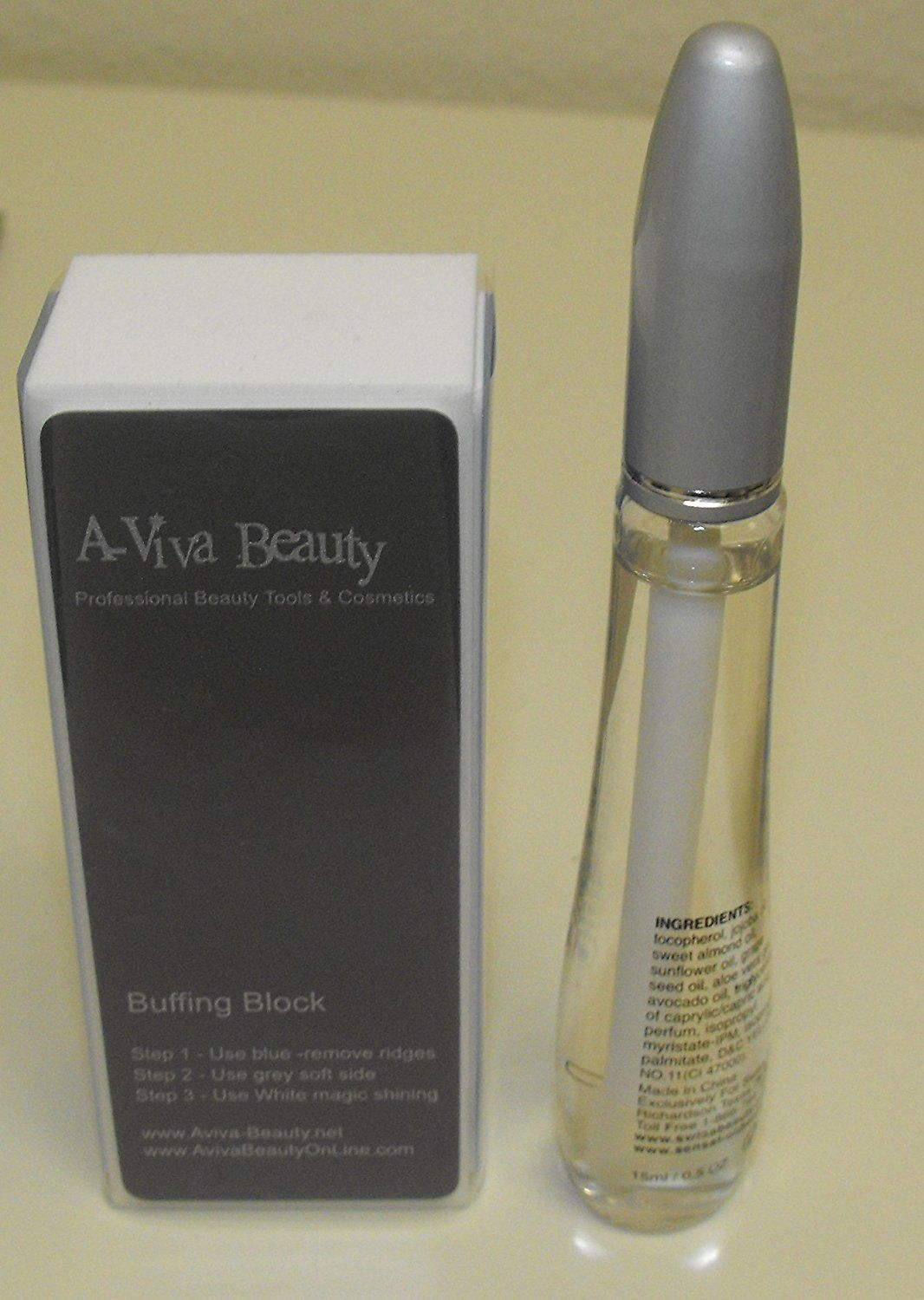 Swisa Cuticle Oil  A-viva Silky Majic 4 Way Nail Buffer for Shiney Nails >>> You can get more details by clicking on the image.